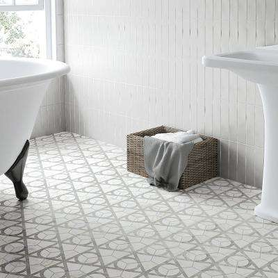 Classico Carrara Hexagon Flow 7 in. x 8 in. Porcelain Floor and Wall Tile (7.67 sq. ft. / case)