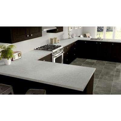 3 in. x 5 in. Laminate Countertop Sample in White Carrara with Standard Fine Velvet Texture Finish