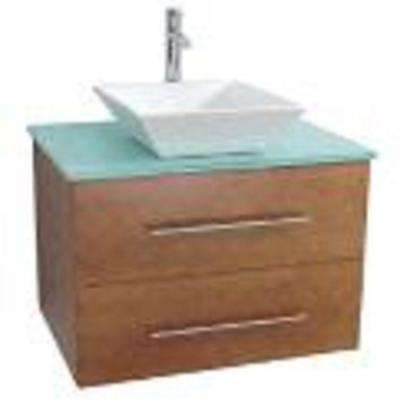 24 in. W x 19.5 in. D x 20 in. H Vanity in Tan with Ceramic Vanity Top in White
