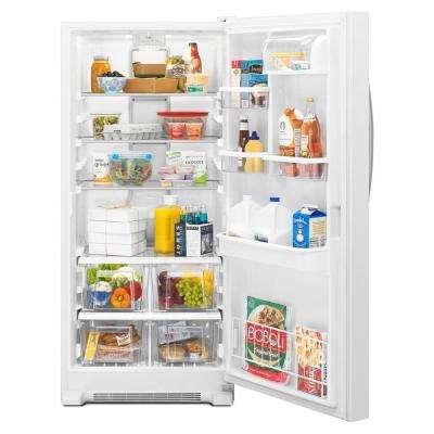31 in. W 17.7 cu. ft. SideKicks Freezerless Refrigerator in Monochromatic Stainless Steel