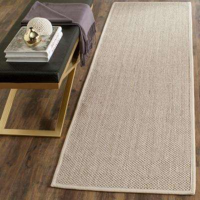 Natural Fiber Marble/Beige 3 ft. x 12 ft. Runner Rug
