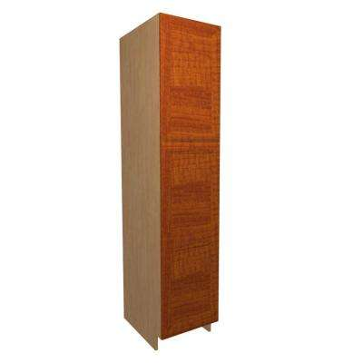 18x92x24 in. Dolomiti Pantry Cabinet with 2 Rollout Trays and 2 Soft Close Doors in Cognac