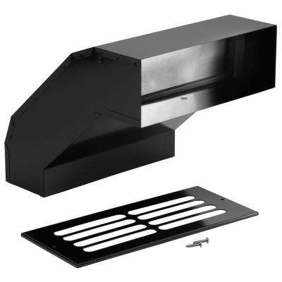 3-1/4 in. x 10 in. Galvanized Steel Black Long Eave Duct Elbow