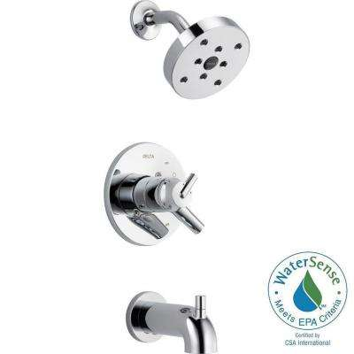 Trinsic 1-Handle H2Okinetic Tub and Shower Faucet Trim Kit in Chrome (Valve Not Included)