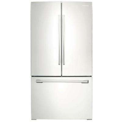 25.5 cu. ft. French Door Refrigerator with Internal Water Dispenser in White