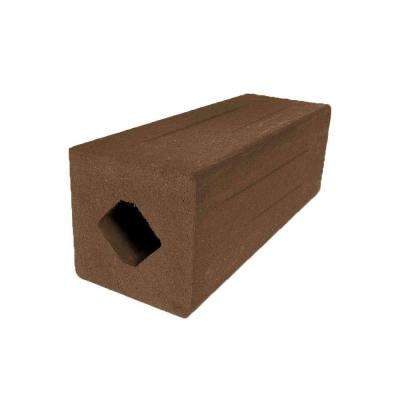 Vantage 4-1/4 in. x 4-1/4 in. x 51 in. Walnut Solid Composite Square Post with Center Chase