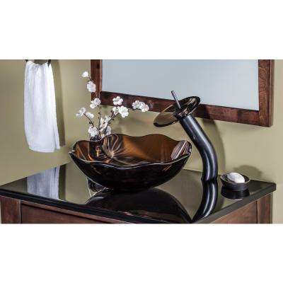 Falls Single Hole Single-Handle Bathroom Faucet with Drain Assembly in Oil Rubbed Bronze