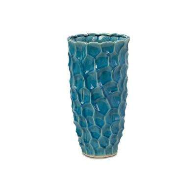Lenor 15.75 in. Ceramic Decorative Vase in Teal