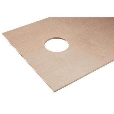 1/2 in. x 2 ft. x 4 ft. Maple Plywood Corn Hole Board Top