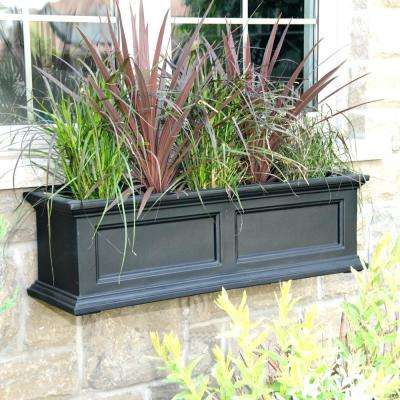 Self-Watering Fairfield 11 in. x 36 in. Plastic Window Box