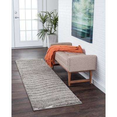 Berkshire Shag Gray 2 ft. x 10 ft. Runner Rug