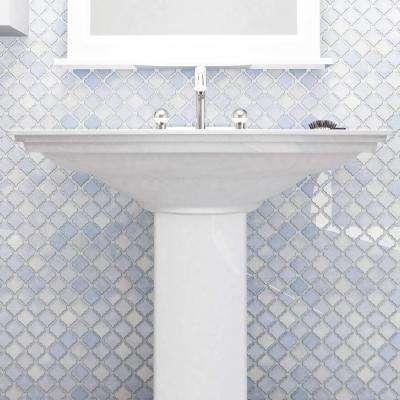 Hudson Tangier Frost Blue 12 in. x 12 in. Porcelain Mosaic Tile (10.96 sq. ft. / Case)