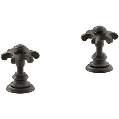 Artifacts Bathroom Sink Prong Handles in Oil-Rubbed Bronze