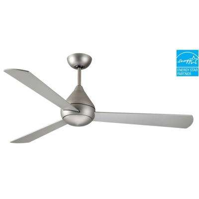 Mc Coy 52 in. Satin Steel Ceiling Fan