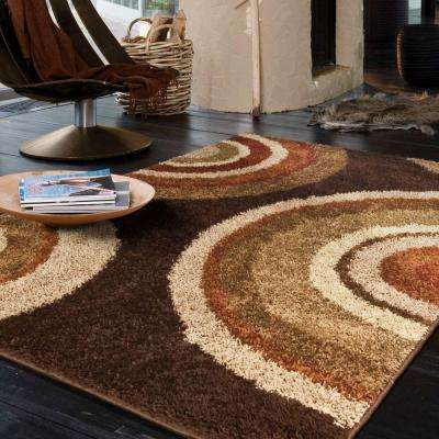 Eclipse Brown 5 ft. x 8 ft. Area Rug