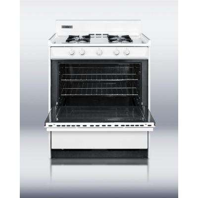 30 in. 3.69 cu. ft. Gas Range in White