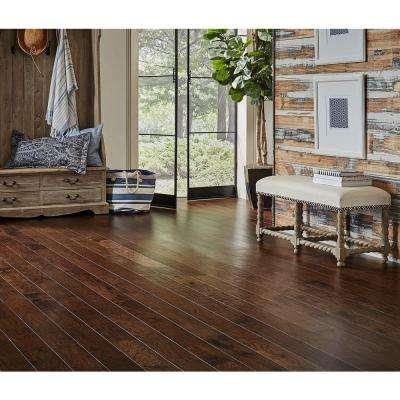 Hand Scraped Distressed Alvarado Hickory 1/2 in.x 5 in.Varying Length Engineered Hardwood Flooring (26.25 sq. ft./case)