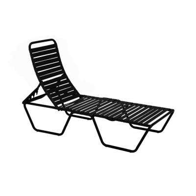Milan Black Commercial Patio Chaise Lounge