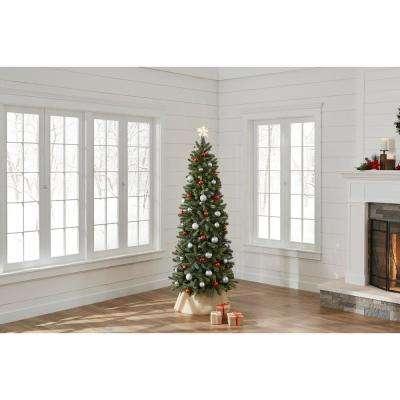 7 ft. Unlit Manchester Fir Slim Artificial Christmas Tree