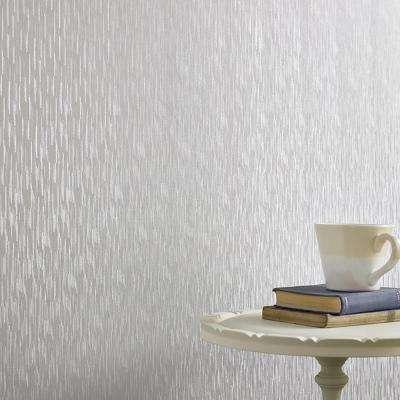 Silver Mist Silken Stria Wallpaper