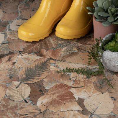 Otono Jet Ocre 17-3/4 in. x 17-3/4 in. Porcelain Floor and Wall Tile (13.5 sq. ft. / case)