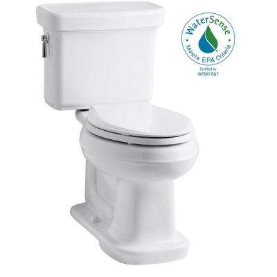 Bancroft 2-Piece 1.28 GPF Single Flush Elongated Toilet with AquaPiston Flush Technology in White