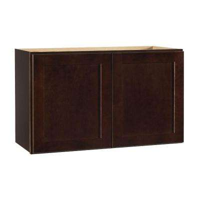 Color Family: Dark Brown. Compare. Shaker Assembled 30x18x12 In. Wall  Bridge Kitchen Cabinet In Java