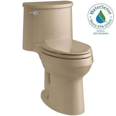 Adair Comfort Height 1-piece 1.28 GPF Single Flush Elongated Toilet with AquaPiston Flush Technology in Mexican Sand