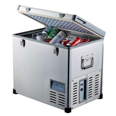 2.3 cu. ft. 68 qt. Portable Refrigerator/Freezer Stainless Steel