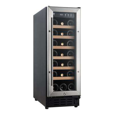 21-Bottle Under-Counter Wine and Beverage Cooler with Wooden Shelves (Commercial Grade)