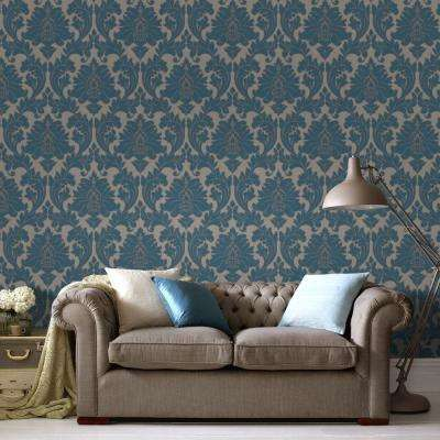 Majestic Teal Removable Wallpaper Majestic Teal Removable Wallpaper