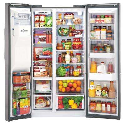 26.1 cu. ft. Side by Side Refrigerator with Door-in-Door in Stainless Steel