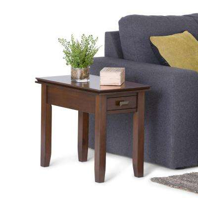 Artisan Medium Auburn Brown Storage Side Table