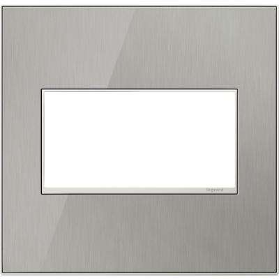 2-Gang 2 Module Wall Plate - Brushed Stainless