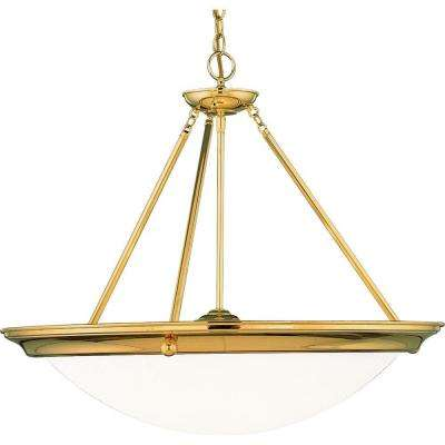 Eclipse Collection 4-Light Polished Brass Foyer Pendant