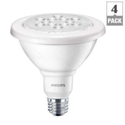 90W Equivalent Bright White (3000K) PAR38 Wet-Rated Outdoor and Security LED Flood Light Bulb (4-Pack)