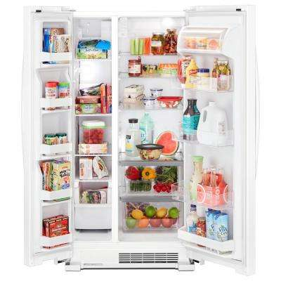 22 cu. Ft. Side by Side Refrigerator in White
