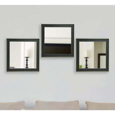 19.5 in. x 19.5 in. Vintage Black Square Mirrors (Set of 4)