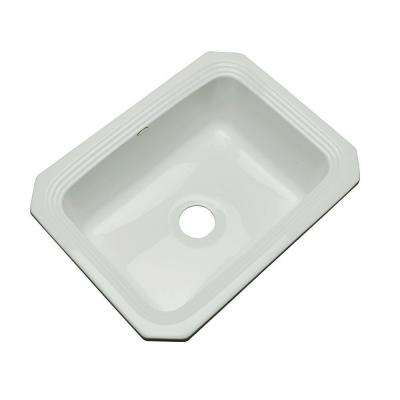 Rochester Undermount Acrylic 25 in. Single Basin Kitchen Sink in Sterling Silver