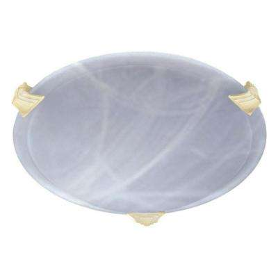 Contemporary Beauty 1-Light Polished Brass Halogen Ceiling Flush Mount