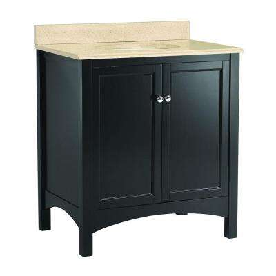 Haven 31 in. W x 22 in. D Vanity in Espresso with Colorpoint Vanity Top in Maui