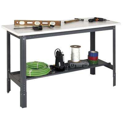 2 in. H x 60 in. W x 30 in. D Plastic Laminate Work Bench Top
