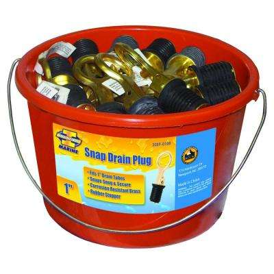 1 in. Brass and Stainless Steel Drain Snap Plug in Bucket (48-Pack)