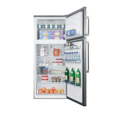 27 in. 12.6 cu. ft. Top Freezer Refrigerator in Stainless Steel, Counter Depth