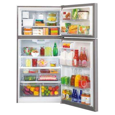 30 in. W 20 cu. ft. Top Freezer Refrigerator in Stainless Steel