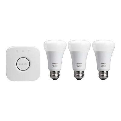Hue 60W Equivalent White and Color Ambiance A19 Starter Kit