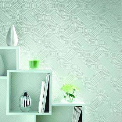 Pure White Vinyl Peelable Wallpaper (Covers 56 sq. ft.)