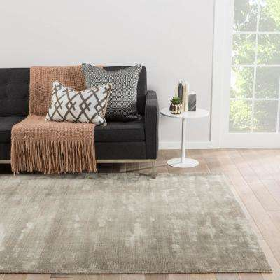 Solids/Handloom Brindle 8 ft. x 10 ft. Solid Area Rug