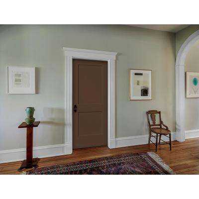 30 in. x 80 in. Monroe Dark Chocolate Right-Hand Smooth Solid Core Molded Composite MDF Single Prehung Interior Door