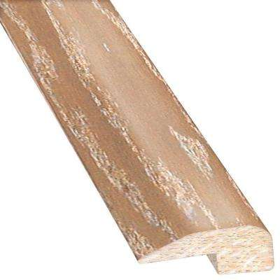 Oak Brushed Biscotti 0.88 in. Thick x 2 in. Wide x 78 in. Length Hardwood Carpet Reducer/Baby T-Molding